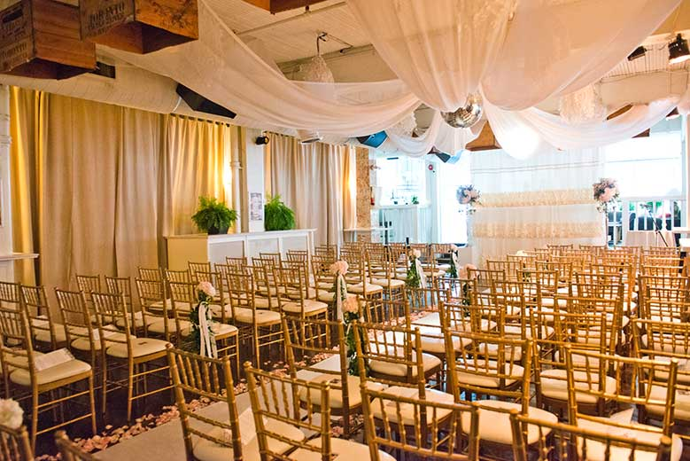 Modern loft wedding event space toronto the fifth for Small private wedding venues